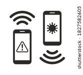 coronavirus contact tracing app ... | Shutterstock .eps vector #1827582605