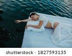Young Woman Sleeps On A...