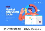 landing page template of... | Shutterstock .eps vector #1827601112