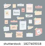 paper notes on stickers ...   Shutterstock .eps vector #1827605018