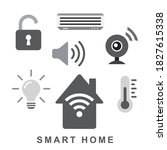 smart home concept  automation...   Shutterstock .eps vector #1827615338