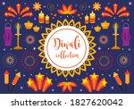 diwali icon set  holiday lights ... | Shutterstock .eps vector #1827620042