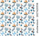 Happy Hanukkah Seamless Pattern....