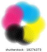 cmyk halftone vector | Shutterstock .eps vector #18276373