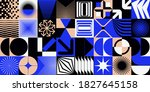 brutalism design abstract... | Shutterstock .eps vector #1827645158