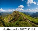 Small photo of Marmaros Pip Ivan Mountain top, Carpathian, Ukraine near the Romania border. Summer peaceful landscape.