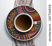 vector illustration with a cup... | Shutterstock .eps vector #182766818