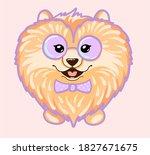 Pomeranian Dog With Glasses...