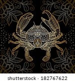 decorative crab  patterned... | Shutterstock .eps vector #182767622
