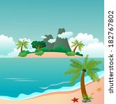 paradise island and beautiful... | Shutterstock .eps vector #182767802