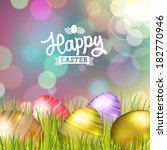 easter bokeh background with... | Shutterstock .eps vector #182770946