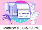 surreal retrofuturistic vector... | Shutterstock .eps vector #1827711098