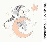 vector illustration of a cute... | Shutterstock .eps vector #1827735008