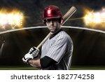 baseball player on a baseball... | Shutterstock . vector #182774258