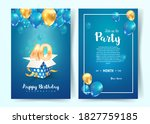 celebration of 40 th years... | Shutterstock .eps vector #1827759185