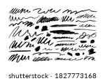 black wavy brush strokes vector ... | Shutterstock .eps vector #1827773168