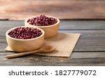 Azuki Beans Or Red Mung Beans...