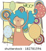 illustration of a girl with... | Shutterstock . vector #182781596