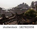 Skyline Of Furong Zhen Town ...