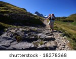 hiking in swiss mountains ... | Shutterstock . vector #18278368