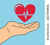 cardiology design over blue