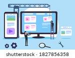 content creator vector concept  ...   Shutterstock .eps vector #1827856358