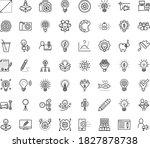 thin outline vector icon set... | Shutterstock .eps vector #1827878738