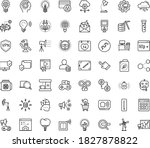 thin outline vector icon set... | Shutterstock .eps vector #1827878822