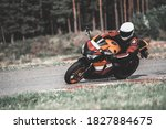 Fast Motorcycle Road Riding....