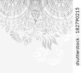 white openwork crochet knitted... | Shutterstock . vector #182790215