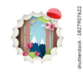 paper art of love concept.green ...   Shutterstock .eps vector #1827907622
