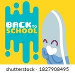 eraser cartoon design  back to... | Shutterstock .eps vector #1827908495