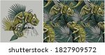 set of print and camouflage... | Shutterstock .eps vector #1827909572