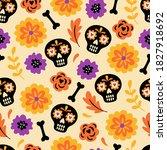 seamless pattern for halloween... | Shutterstock .eps vector #1827918692
