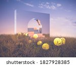 abstract halloween background... | Shutterstock . vector #1827928385