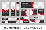 set of creative web banners of... | Shutterstock .eps vector #1827937898