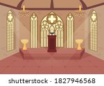 church flat color vector... | Shutterstock .eps vector #1827946568