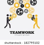Teamwork design over gray background, vector illustration - stock vector