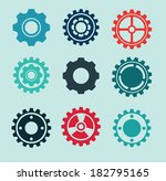 gears design over blue... | Shutterstock .eps vector #182795165