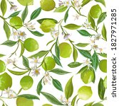 floral lime seamless pattern ... | Shutterstock .eps vector #1827971285