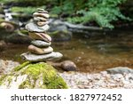 Close Up Of Stacks Of Rocks On...