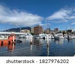 Boat and harbour at Tazmania Australia