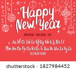 christmas font. holiday... | Shutterstock .eps vector #1827984452
