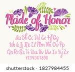 wedding font. typography... | Shutterstock .eps vector #1827984455