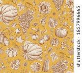 happy autumn. harvest. autumn... | Shutterstock .eps vector #1827996665