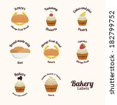 bakery design over  white ... | Shutterstock .eps vector #182799752