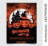 halloween night party... | Shutterstock .eps vector #1827999698