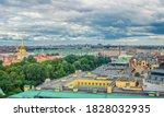 Top Aerial Panoramic View Of...