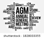 agm   annual general meeting... | Shutterstock .eps vector #1828033355