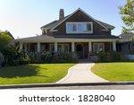 exterior shot of a custom home... | Shutterstock . vector #1828040